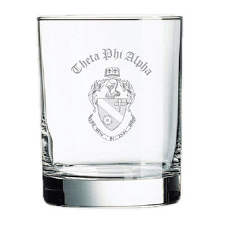 Theta Phi Alpha Old Style Glass