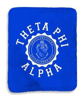 Theta Phi Alpha Seal Sherpa Lap Blanket