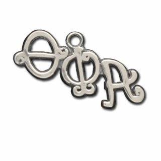 Theta Phi Alpha Silver Diagonal Curlz Charm