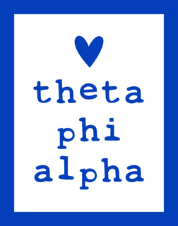 Theta Phi Alpha Simple Heart Sticker