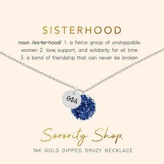 Theta Phi Alpha Sisterhood Druzy Necklace