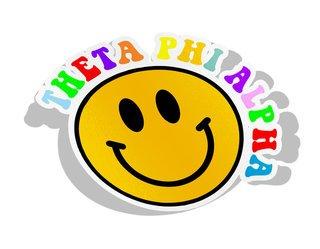 Theta Phi Alpha Smiley Face Decal Sticker