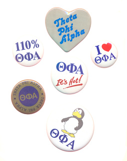Theta Phi Alpha Sorority Buttons 6 Pack