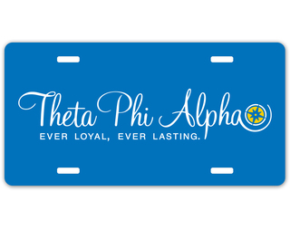 Theta Phi Alpha Sorority Logo License Cover
