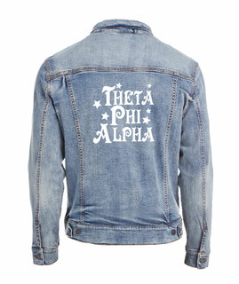 Theta Phi Alpha Star Struck Denim Jacket
