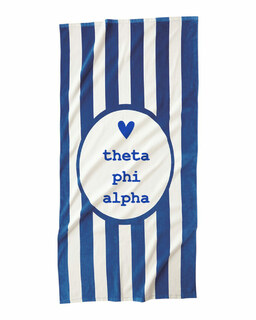 Theta Phi Alpha Striped Beach Towel