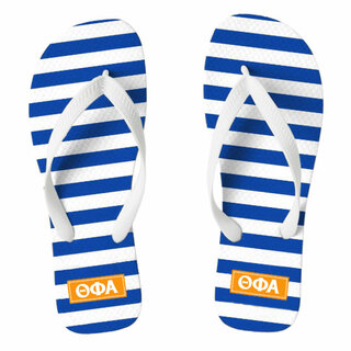 Theta Phi Alpha Striped Flip Flops