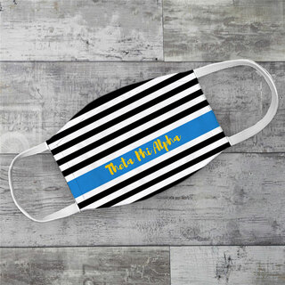 Theta Phi Alpha Stripes Face Mask