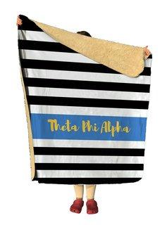 Theta Phi Alpha Stripes Sherpa Lap Blanket