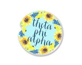 Theta Phi Alpha Sunflower Car Coaster