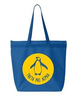 Theta Phi Alpha Symbol Circle Mascot Tote Bag