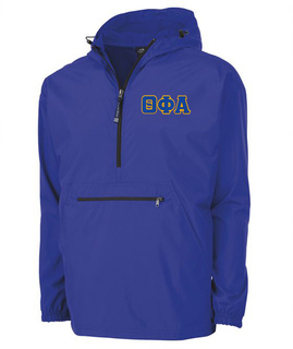 Theta Phi Alpha Tackle Twill Lettered Pack N Go Pullover