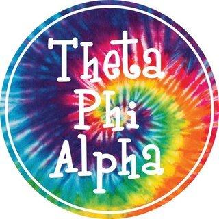 Theta Phi Alpha Tie-Dye Circle Sticker