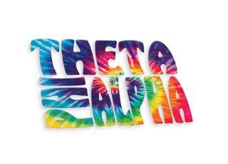 Theta Phi Alpha Tie-Dye Stack Sticker