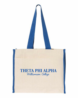Theta Phi Alpha Tote with Contrast-Color Handles
