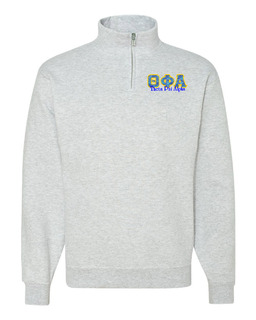 Theta Phi Alpha Twill Greek Lettered Quarter zip