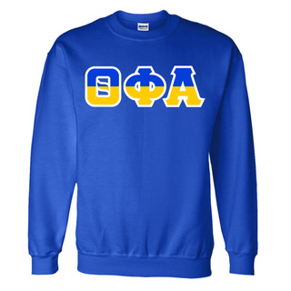 Theta Phi Alpha Two Tone Greek Lettered Crewneck Sweatshirt