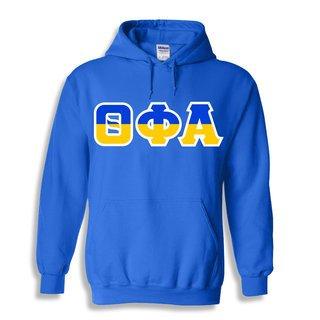 Theta Phi Alpha Two Tone Greek Lettered Hooded Sweatshirt