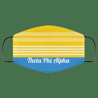 Theta Phi Alpha Two Tone Stripes Face Mask