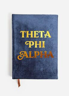 Theta Phi Alpha Velvet Notebook