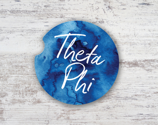 Theta Phi Alpha Watercolor Sandstone Car Cup Holder Coaster