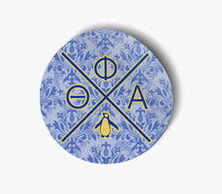 Theta Phi Alpha Well Balanced Round Decals