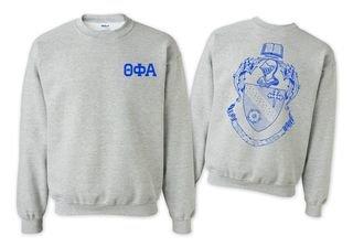 Theta Phi Alpha World Famous Crest - Shield Crewneck Sweatshirt- $25!
