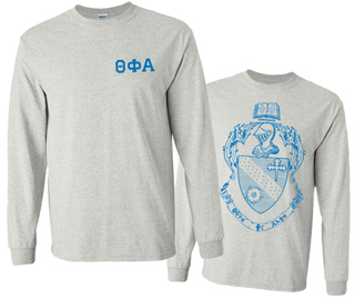 Theta Phi Alpha World Famous Crest - Shield Long Sleeve T-Shirt - $19.95!
