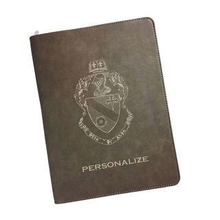 Theta Phi Alpha Zipper Leatherette Portfolio with Notepad