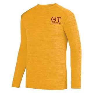 Theta Tau- $22.95 World Famous Dry Fit Tonal Long Sleeve Tee