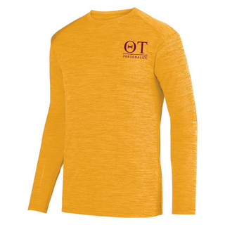 Theta Tau- $26.95 World Famous Dry Fit Tonal Long Sleeve Tee