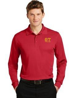 Theta Tau- $35 World Famous Long Sleeve Dry Fit Polo