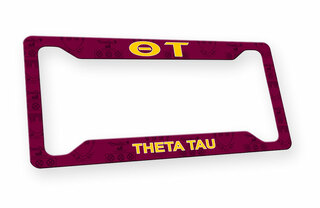 Theta Tau Custom License Plate Frame