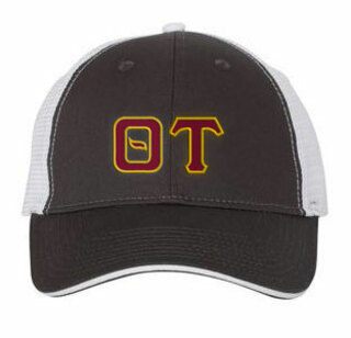 Theta Tau Double Greek Trucker Cap