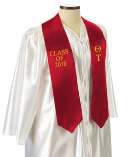 Theta Tau Embroidered Graduation Sash Stole