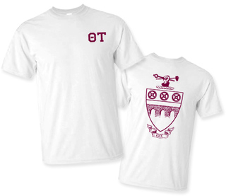 Theta Tau Greek Crest - Shield T-Shirt