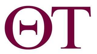 Theta Tau Greek Letter Window Sticker Decal