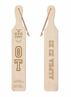 Theta Tau Old School Wood Greek Paddle