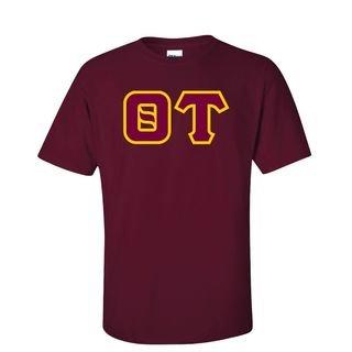 Theta Tau Sewn Lettered T-Shirt