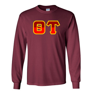 Theta Tau Two Tone Greek Lettered Longsleeve Tee