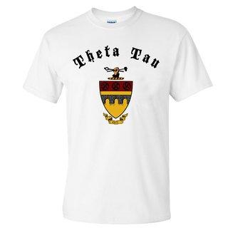 Theta Tau Vintage Crest - Shield T-shirt