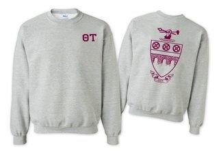 Theta Tau World Famous Crest - Shield Crewneck Sweatshirt- $25!