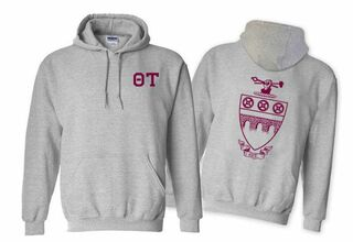 Theta Tau World Famous Crest - Shield Hooded Sweatshirt- $35!