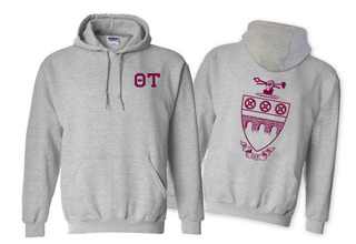 Theta Tau World Famous Crest - Shield Hooded Sweatshirt- $35!