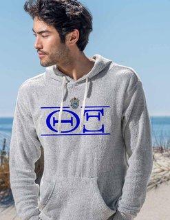 Theta Xi Line Crest Lucas Loop Fleece Hood