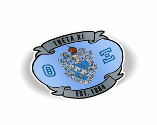 Theta Xi Banner Crest - Shield Decal