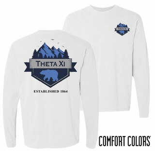 Theta Xi Big Bear Long Sleeve T-shirt - Comfort Colors
