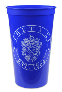 Closeout Theta Xi Big Plastic Stadium Cup - 10 FOR $10!