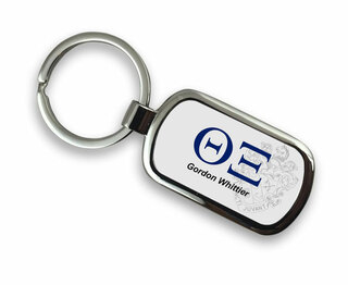 Theta Xi Chrome Crest - Shield Key Chain