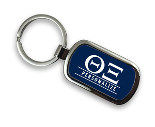Theta Xi Chrome Custom Keychain